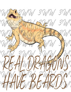 Real Dragons Have Beards