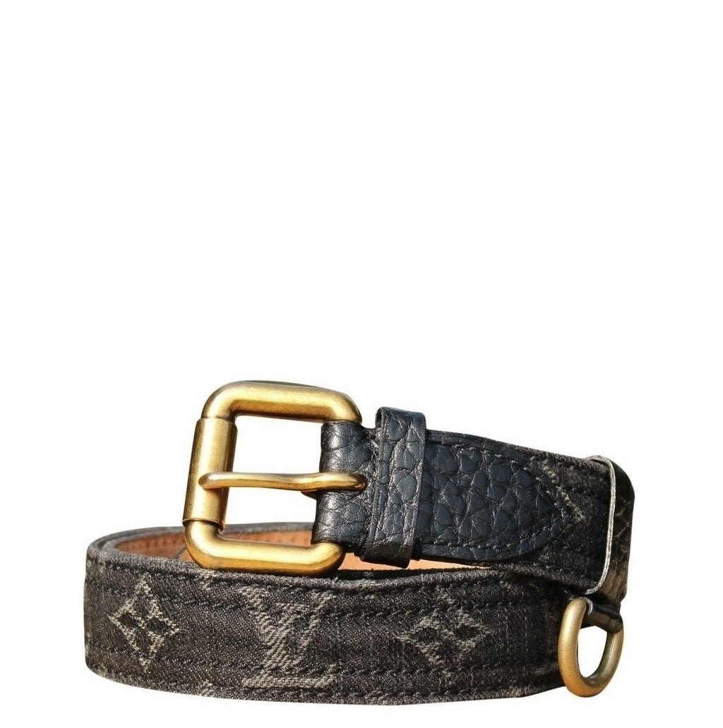 Louis Vuitton - Ceinture Denim noir 80