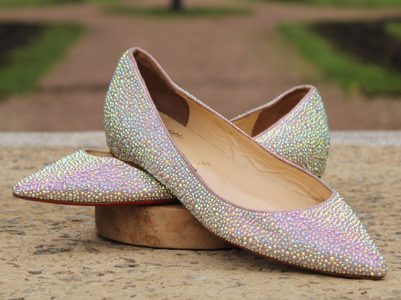 Louis Vuitton - Pigallle flat strass 36
