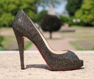 "Christian Louboutin - Very riche ""Swarovski"" 39"