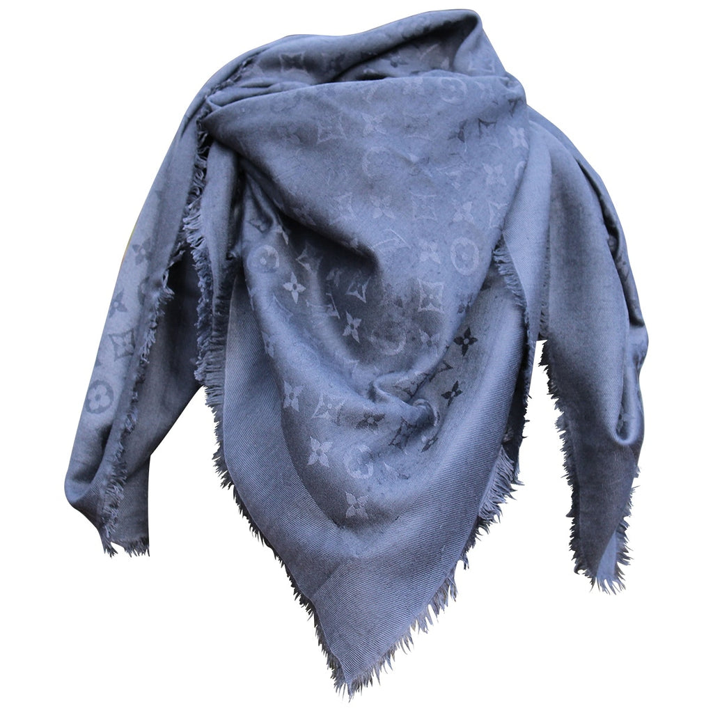 Louis Vuitton-Monogram Anthracite Shawl