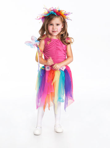 Little Adventures Rainbow Fairy Girls Costume