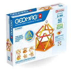 Geomag Green Recycled 100% Plastic Classic 42 Pieces | KidzInc Australia | Online Educational Toys