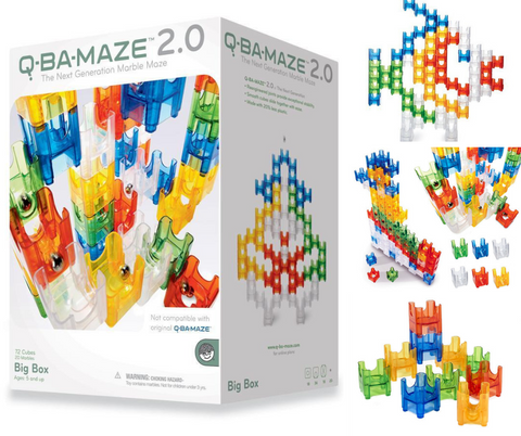 Mindware Q-BA-Maze 2.0 Big Box Marble Run | KidzInc Australia | Online Educational Toys