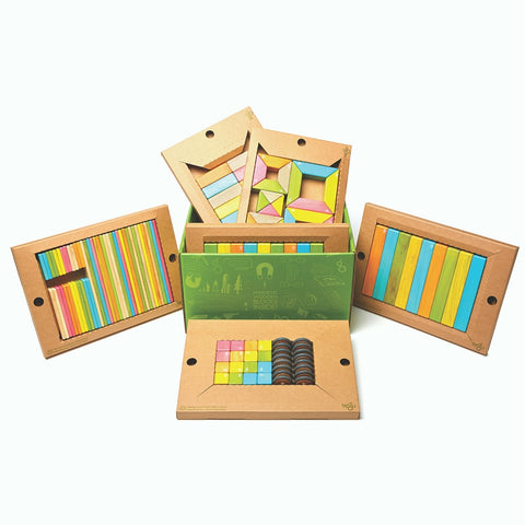 Tegu Magnetic Wooden Blocks Classroom Kit