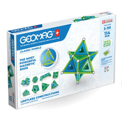 Geomag-green-recycled-plastic-panels-114-pieces|Kidzinc Australia