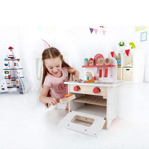 Hape Kitchen Retro Wooden Kitchen | KidzInc Australia | Educational Toy Online