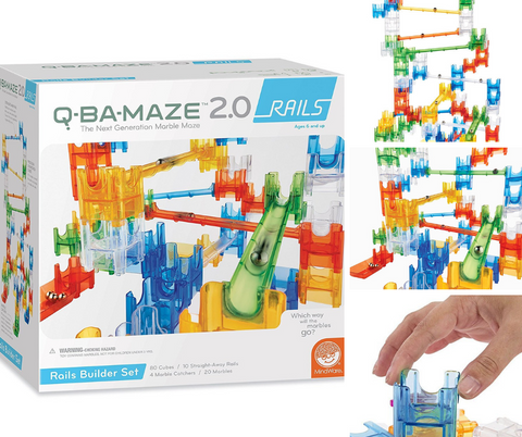 Mindware Q-BA-Maze 2.0 Rails Builder Marble Run Set | KidzInc Australia | Online Educational Toys