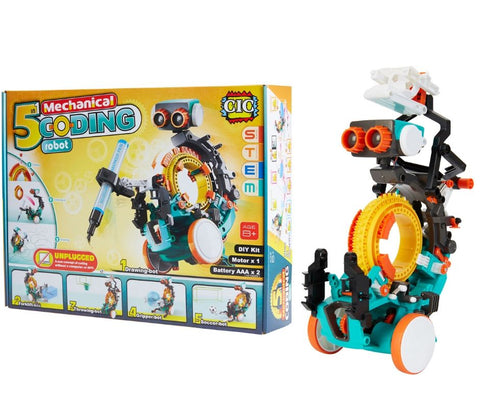 CIC 5 in 1 Mechanical Coding Robot Kit | KidzInc Australia | Online Educational Toys