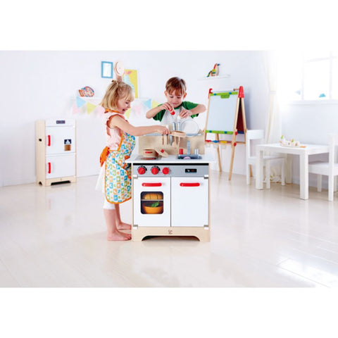 Hape Kitchen White Gourmet Wooden Kitchen | KidzInc Australia | Educational Toys Online