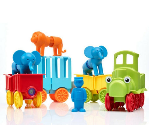 SmartMax Magnetic Discovery My First Animal Train | KidzInc Australia | Online Educational Toys