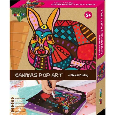 Avenir Canvas Pop Art Rabbit | KidzInc Australia | Online Educational Toys