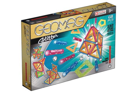 Geomag Glitter 68 Pieces | KidzInc Australia | Online Educational Toys