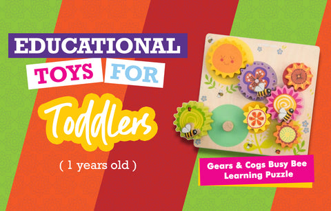 Educational Toys for One Year Olds - Gears and Cogs