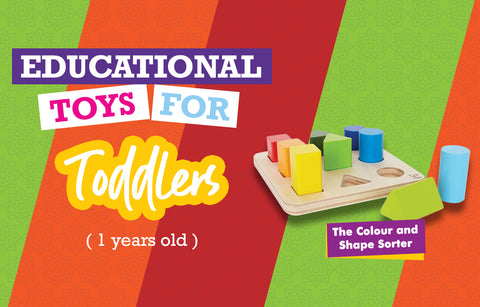 Educational Toys for One Year Olds - Colours and Shapes