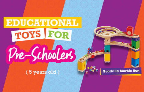 Educational Toys for Five Year Olds - Wooden Marble Run