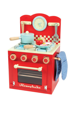 Le Toy Van Red Oven and Hob Play Kitchen Set | KidzInc