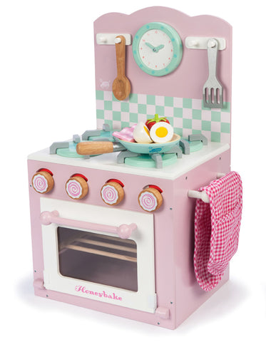 Le Toy Van Home Pink Oven and Hob Play Kitchen Set | KidzInc