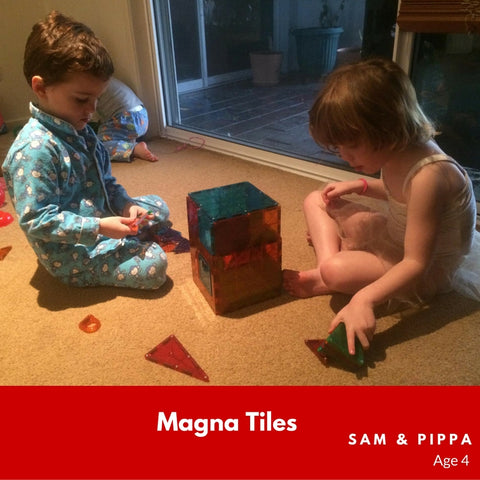 Magna-Tiles Sam and Pippa Age 4 Playing with 48 Piece