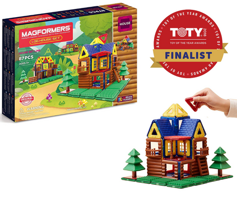 Magformers Log House Set 87 pieces | KidzInc Australia