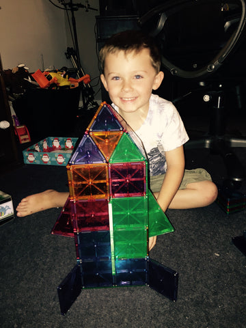 Magna-Tiles Creation by Little Boy