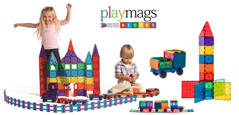 Playmags Magnetic Tiles Building Construction Toy | Kidzinc Australia | Online Educational Toys