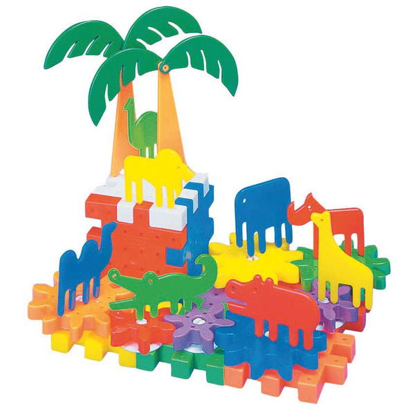 Quercetti - Jungle Park Gears 50 Pieces | KidzInc Australia | Online Educational Toy Store