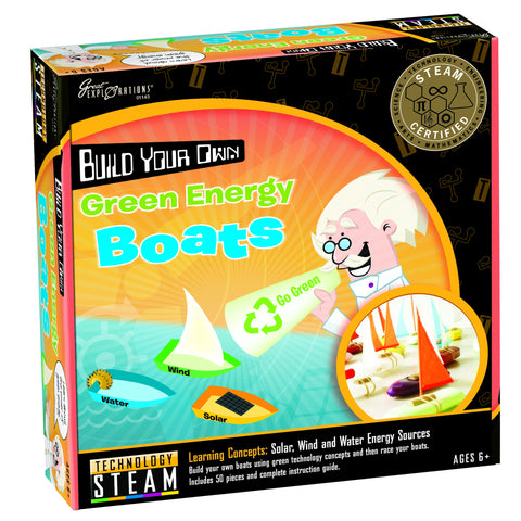 STEAM - Technology Build Your Own Green Energy Boats | KidzInc Australia | Online Educational Toy Store