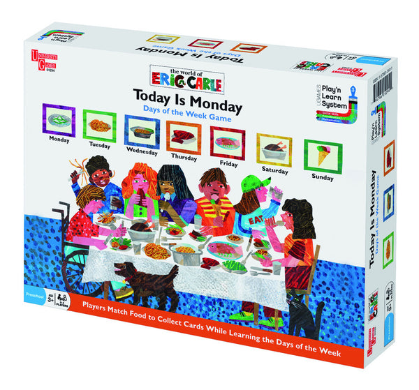 Eric Carle Today is Monday | KidzInc Australia | Online Educational Toy Store