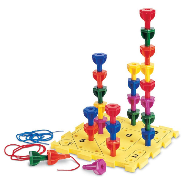 Learning Resources - Rainbow Peg Play Activity Set | KidzInc Australia | Online Educational Toy Store