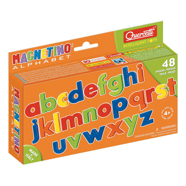 Quercetti - Magnetic Lowercase Letters Pack of 48 | KidzInc Australia | Online Educational Toy Store