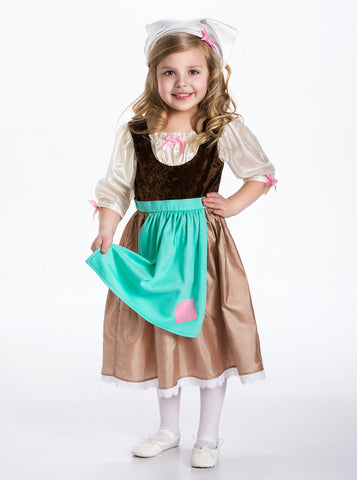 Little Adventures - Cinderella Day Dress with Head Scarf Costume | KidzInc Australia | Online Educational Toy Store