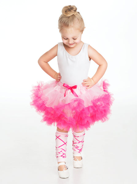 Little Adventures - Pink and Hot Pink Fluffy Girls Tutu | KidzInc Australia | Online Educational Toy Store