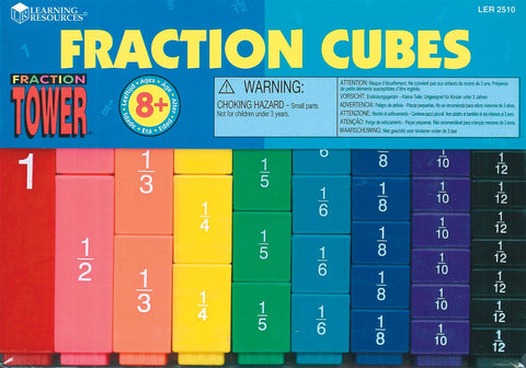 Learning Resources - Fraction Tower Cubes Fraction Set | KidzInc Australia | Online Educational Toy Store