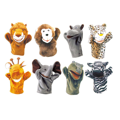 Safari Animal Hand Puppet Set | KidzInc Australia | Online Educational Toy Store