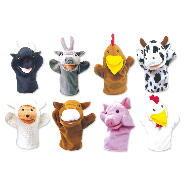 Farm Animal Hand Puppet Set | KidzInc Australia | Online Educational Toy Store