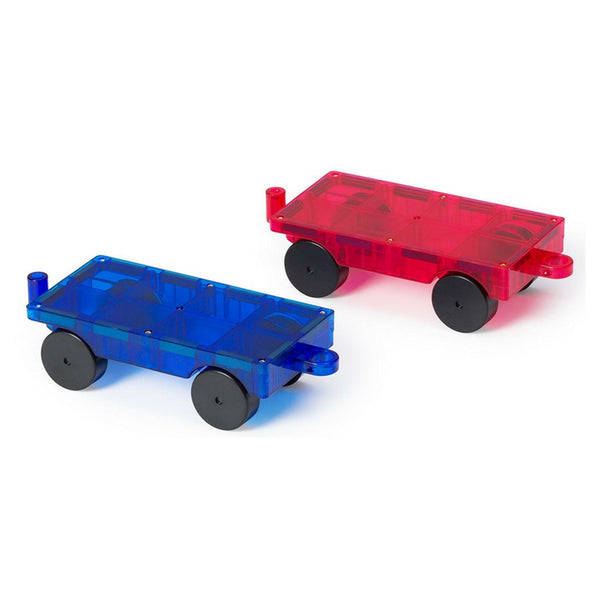 Playmags - Magnetic Tiles Magnetic Cars 2 Pack | KidzInc Australia | Online Educational Toy Store