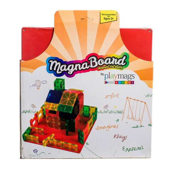 PlayMags - Large Magnetic Board for Magnetic Tiles | KidzInc Australia | Online Educational Toy Store