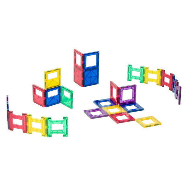 Playmags - Magnetic Tile Clear Colours Accessory Pack 24 Piece | KidzInc Australia | Online Educational Toy Store