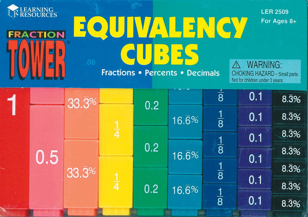 Learning Resources - Fraction Tower Cubes Equivalency Set of 51 | KidzInc Australia | Online Educational Toy Store
