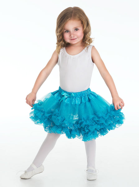 Little Adventures - Fluffy Lace Teal Girls Tutu | KidzInc Australia | Online Educational Toy Store