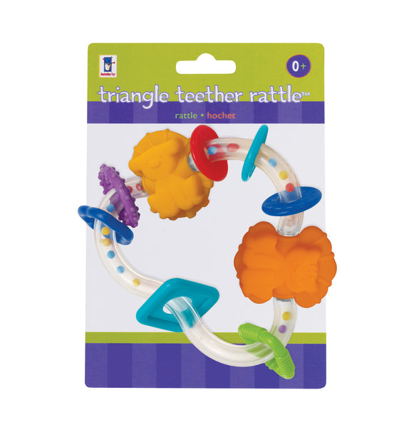 Manhattan Toy - Baby: Triangle Teether Rattle | KidzInc Australia | Online Educational Toy Store