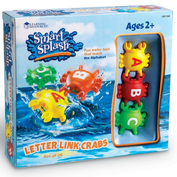 Learning Resources - Smart Splash Letter Link Crabs | KidzInc Australia | Online Educational Toy Store