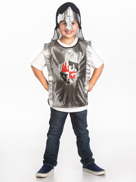 Little Adventures - Black Knight Vest and Silver Helmet | KidzInc Australia | Online Educational Toy Store