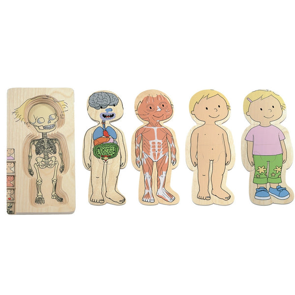 Beleduc - Your Body Girl 5 Layer Wooden Puzzle | KidzInc Australia | Online Educational Toy Store