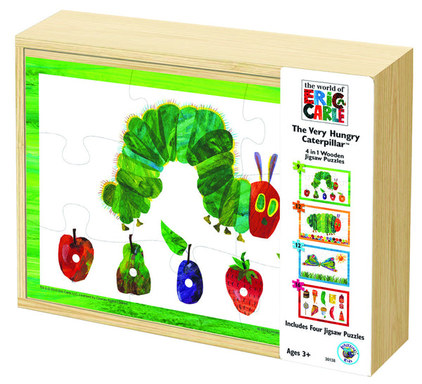 Very Hungry Caterpillar 4 in 1 Wooden Puzzle Box | KidzInc Australia | Online Educational Toy Store