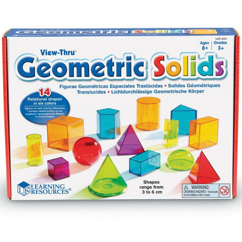 Learning Resources - View-Thru Geometric Solids | KidzInc Australia | Online Educational Toy Store
