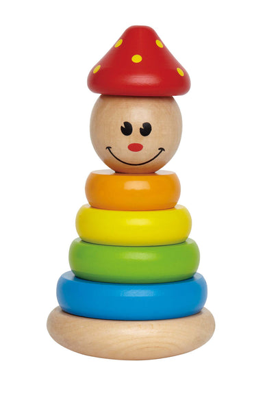 Hape - Stack and Swivel Clown | KidzInc Australia | Online Educational Toy Store
