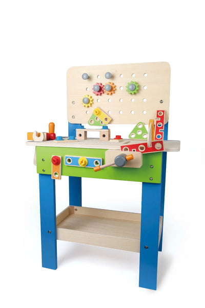 Hape - My Giant Work Bench (27 Pieces) | KidzInc Australia | Online Educational Toy Store