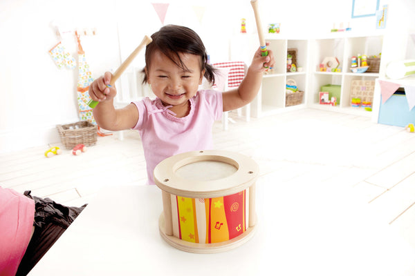 Hape - Early Melodies Drum Wooden | KidzInc Australia | Online Educational Toy Store